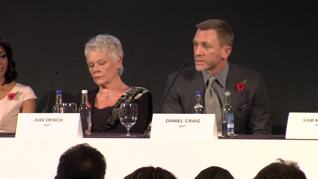 Daniel Craig on how proud he is to be part of the team at the Bond 23 Launch Press conference Skyfall at London England