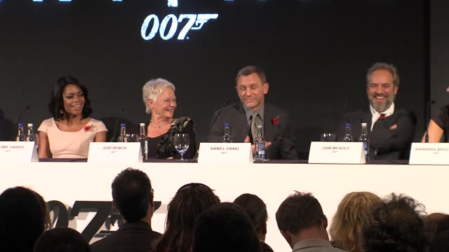 Daniel Craig on taking his shirt off for the role at the Bond 23 Launch Press conference Skyfall at London England