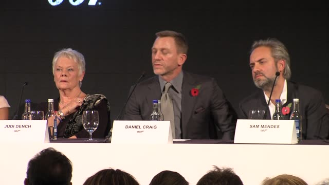 Daniel Craig on waiting for production to start again at the Bond 23 Launch Press conference Skyfall at London England