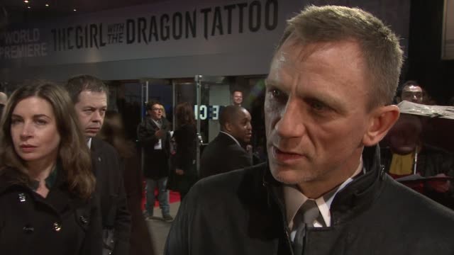 Daniel Craig on what he liked about the trilogy how he decided to be involved in the project at The Girl With The Dragon Tattoo World Premiere at...