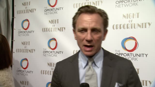 interview daniel craig shares how he got involved with the opportunity network and why their work is so important what it means to be honored advice... - daniel craig stock videos and b-roll footage