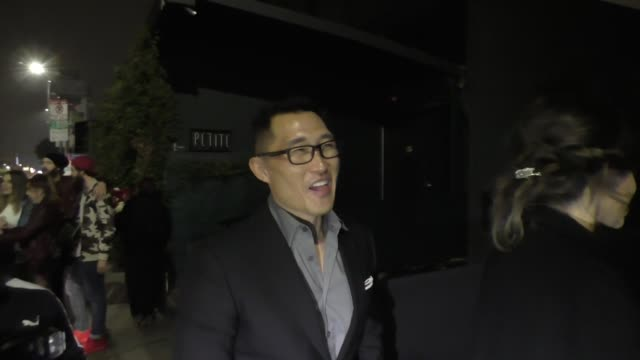 Daniel Dae Kim outside Seth Meyers' Golden Globe Awards After Party at Poppy Nightclub in West Hollywood in Celebrity Sightings in Los Angeles