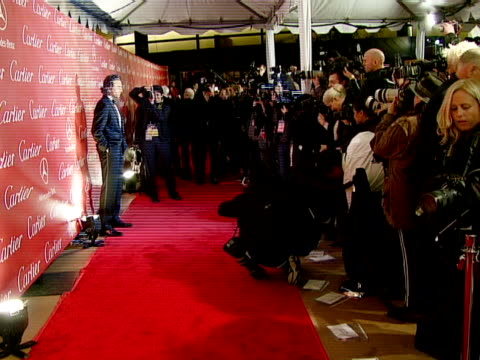 daniel daylewis at the 2008 palm springs international film festival hosts starstudded awards gala presented by cartier red carpet arrivals at palm... - cartier video stock e b–roll