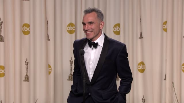 INTERVIEW Daniel DayLewis on his beard and what other historical figure he would play at 85th Annual Academy Awards Press Room on 2/24/13 in Los...