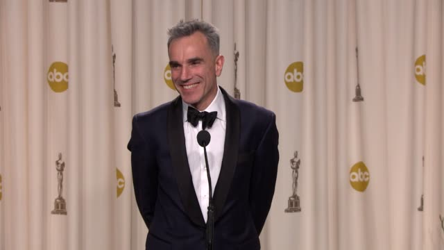 INTERVIEW Daniel DayLewis on his wife and staying in character at 85th Annual Academy Awards Press Room on 2/24/13 in Los Angeles CA