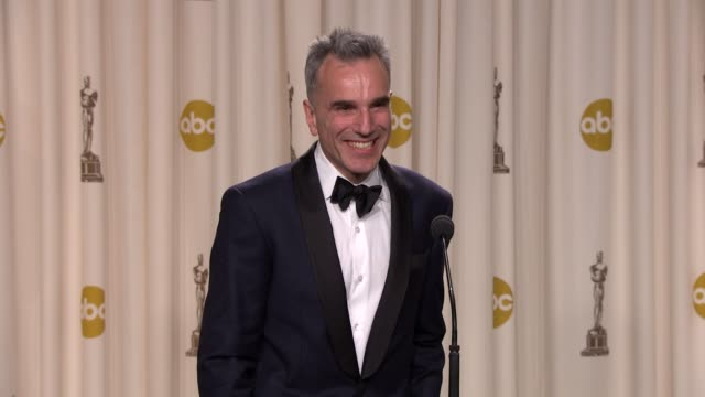 INTERVIEW Daniel DayLewis on how he will celebrate his win and playing an American icon at 85th Annual Academy Awards Press Room on 2/24/13 in Los...