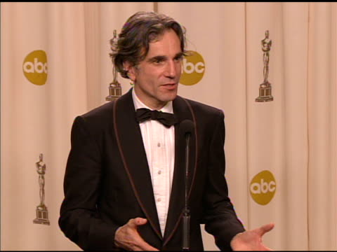 daniel daylewis recipient of the award for best actor in a leading role for 'there will be blood' at the 2008 academy awards at the kodak theatre in... - 2008 stock videos & royalty-free footage