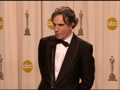 Daniel DayLewis winner of the Best Actor in a Leading Role award for 'There Will Be Blood' at the 2008 Academy Awards at the Kodak Theatre in...