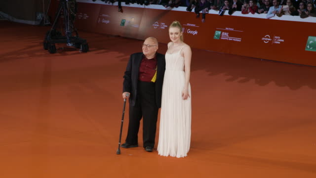 daniel dubieck ben lewin dakota fanning lara alammedine at please stand by red carpet 12th rome film fest on october 31 2017 in rome italy - rome film fest stock videos and b-roll footage