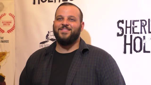 daniel franzese at the opening night of sir arthur conan doyle's sherlock holmes at the montalban theatre in hollywood celebrity sightings on october... - arthur conan doyle stock videos & royalty-free footage