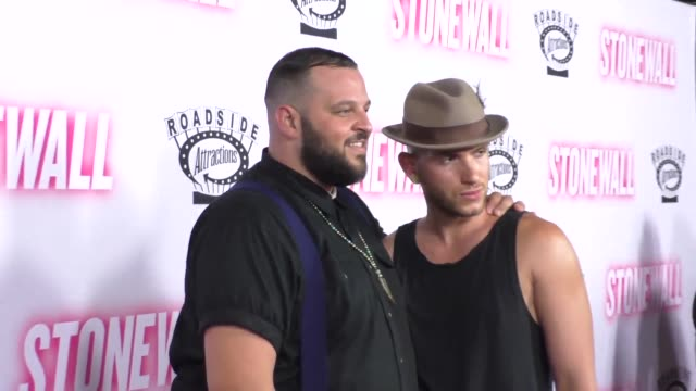daniel franzese & joseph bradley phillips at pacific design center in west hollywood at the dreamworks animation's dinotrux launch event at hollywood... - pacific design center stock videos & royalty-free footage