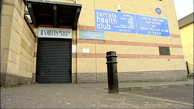 three men jailed; t04021150 south london: east dulwich: wide shot dulwich hamlet football club building t30011101 exterior of hamlets health club... - dulwich stock videos & royalty-free footage
