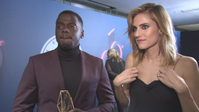 interview daniel kaluuya allison williams winning best independent international award letting go of a film after you made it staying in contact at... - daniel kaluuya stock videos and b-roll footage