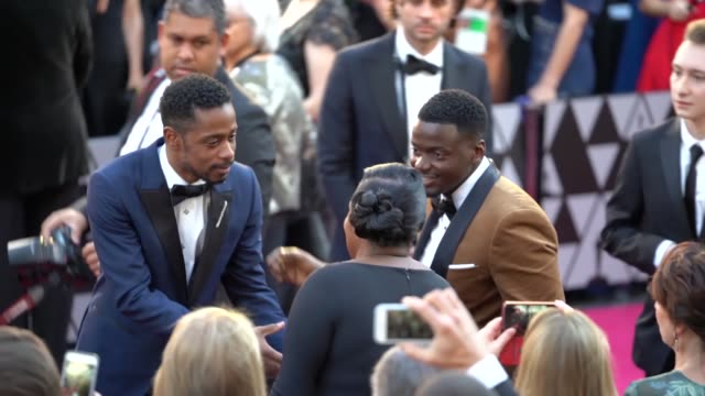 daniel kaluuya and lakeith stanfield at dolby theatre on march 04 2018 in hollywood california - daniel kaluuya stock videos and b-roll footage