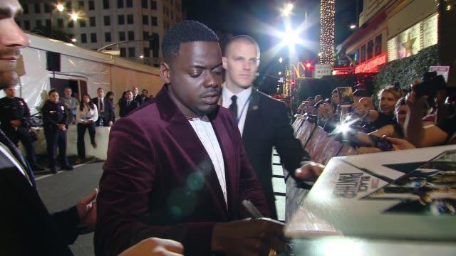 "Daniel Kaluuya at Marvel Studios' ""Black Panther"" World Premiere in Los Angeles CA"