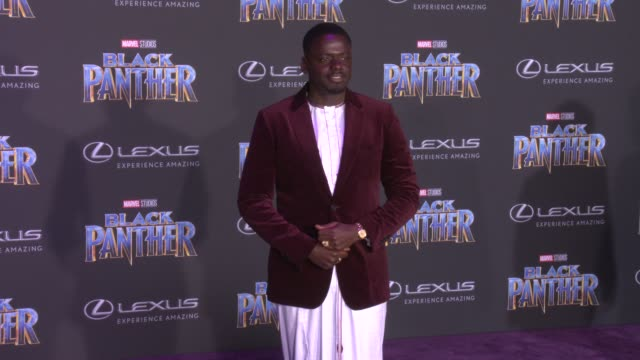 Daniel Kaluuya at the Marvel Studios' 'Black Panther' World Premiere at Dolby Theatre on January 29 2018 in Hollywood California