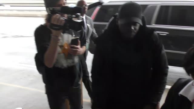 daniel kaluuya departing at lax airport in los angeles in celebrity sightings in los angeles - daniel kaluuya stock videos and b-roll footage