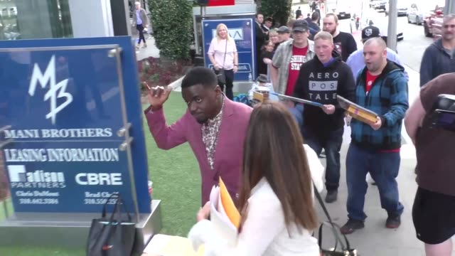 Daniel Kaluuya outside the 2018 Film Independent Filmmaker Grant Spirit Award Nominees Brunch at BOA Steakhouse in West Hollywood in Celebrity...