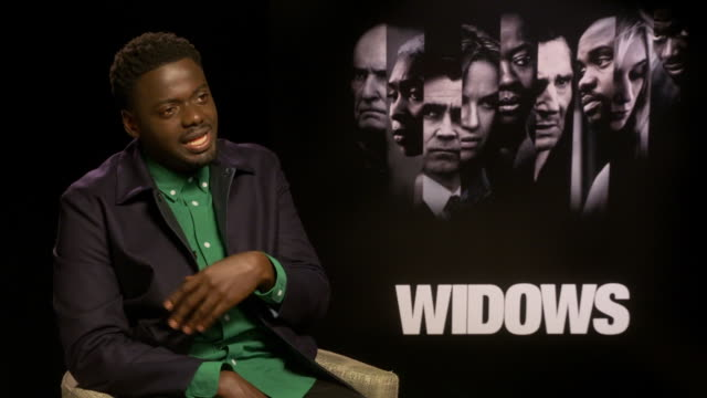 interview daniel kaluuya the phone not stopping ringing since his parts in 'get out' and 'black panther' at 'widows' interviews 62nd bfi london film... - daniel kaluuya stock videos and b-roll footage