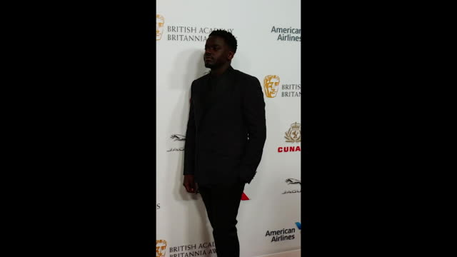 daniel kayluua attends the 2018 british academy britannia awards presented by jaguar land rover and american airlines at the beverly hilton hotel on... - the beverly hilton hotel stock-videos und b-roll-filmmaterial