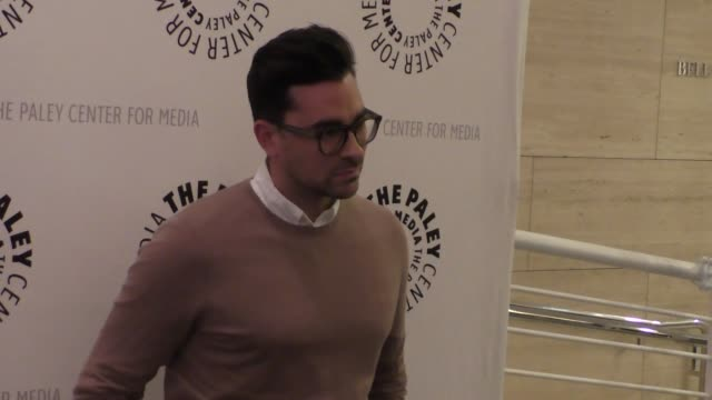 daniel levy at the paley center for media presents paleylive an evening with schitt's creek at paley center in beverly hills - celebrity sightings on... - paley center for media los angeles stock videos & royalty-free footage