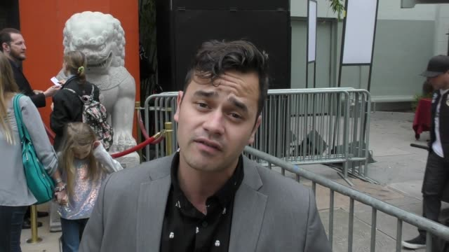 daniel logan gives a special holiday message to his fans & talks about bullying at the star wars rogue one costume contest at tcl chinese theatre in... - tcl chinese theatre stock-videos und b-roll-filmmaterial