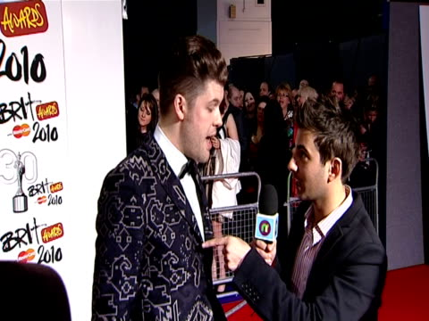 Daniel Merriweather at the The Brit Awards 2010 at London England