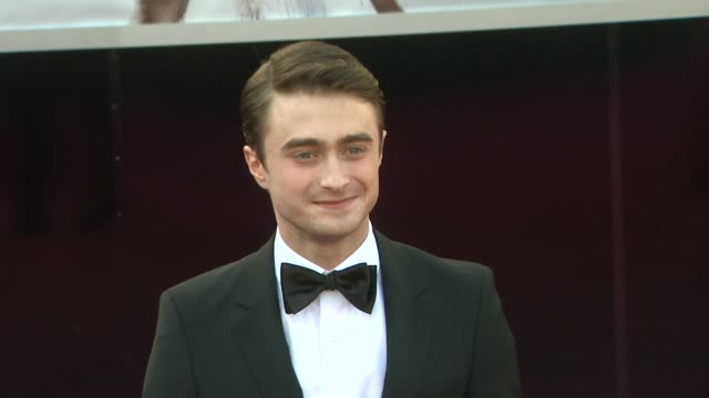 daniel radcliffe at 85th annual academy awards arrivals in hollywood ca on 2/24/13 - awards ceremony stock videos & royalty-free footage