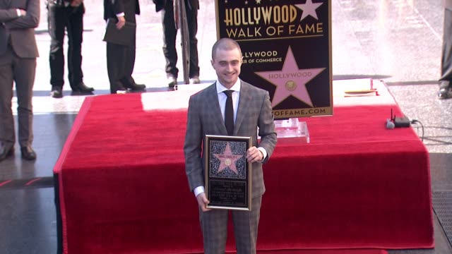 Daniel Radcliffe at Daniel Radcliffe Honored With Star On The Hollywood Walk Of Fame on November 12 2015 in Hollywood California