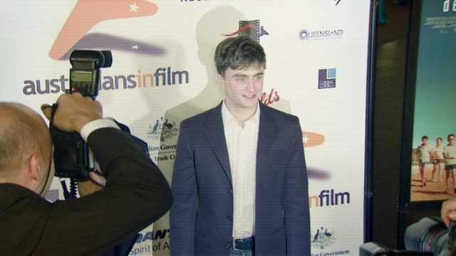 daniel radcliffe at the 'december boys' los angeles premiere at director's guild of america in hollywood california on september 6 2007 - director's guild of america stock-videos und b-roll-filmmaterial