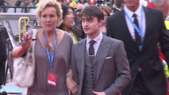 Daniel Radcliffe at the Harry Potter and the Deathly Hallows Part Two World Premiere at London England