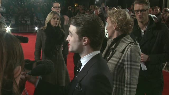 daniel radcliffe at the woman in black world premiere at the royal festival hall on january 24, 2012 in london, england. - royal festival hall stock videos & royalty-free footage