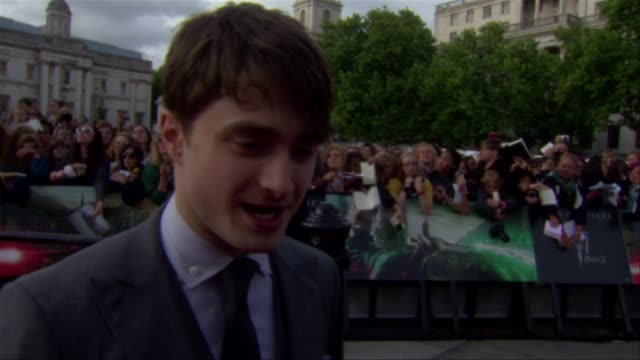 Daniel Radcliffe on his current projects at the Harry Potter and the Deathly Hallows Part Two World Premiere at London England
