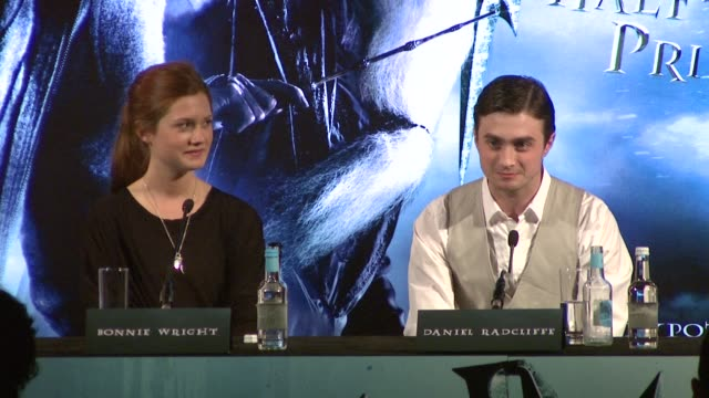 daniel radcliffe on whether the young audience will be able to cope with the romance in the movie and interview tom felton on what goes on in real... - tom felton stock videos & royalty-free footage