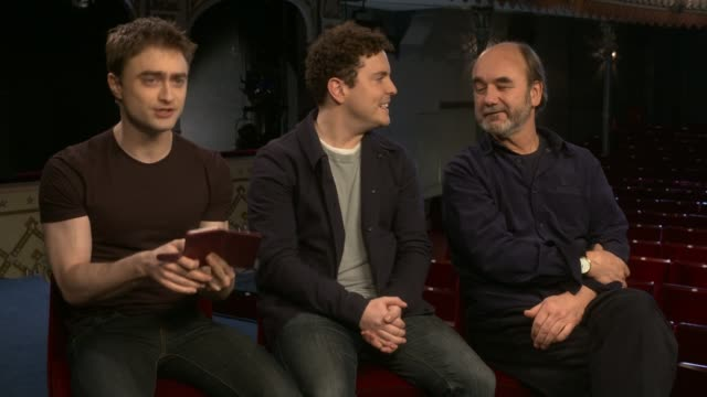 Daniel Radcliffe stars in Tom Stoppard play Daniel Radcliffe stars in Tom Stoppard play Daniel Radcliffe looking at image of his double on phone and...