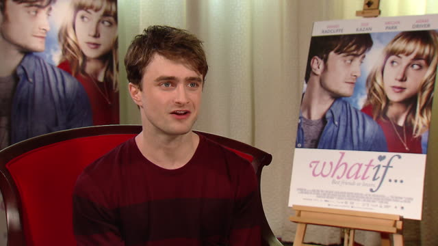 daniel radcliffe talks about the romantic comedy what if - romantic comedy stock videos and b-roll footage