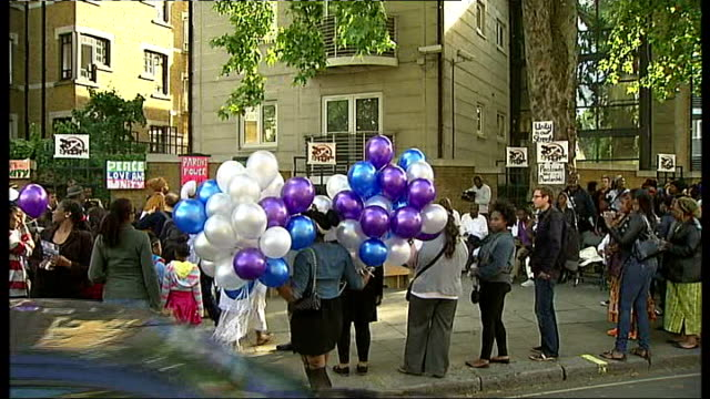 family appeal for information one year on since his death england london ext various shots family and friends of daniel smith gathered at memorial... - woodwind instrument stock videos and b-roll footage