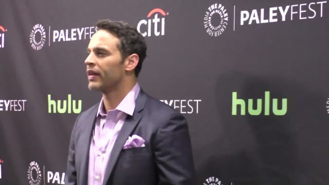 daniel sunjata at the paley center for media's paleyfest 2016 fall tv preview - abc at celebrity sightings in los angeles on september 10, 2016 in... - paley center for media los angeles stock videos & royalty-free footage