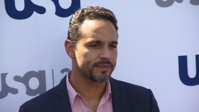 Daniel Sunjata at USA Network 2013 Upfront Event at Pier 36 on May 16 2013 in New York New York