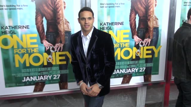 Daniel Sunjata attends the 'One For The Money' Premiere 01/24/12 in Celebrity Sightings in New York