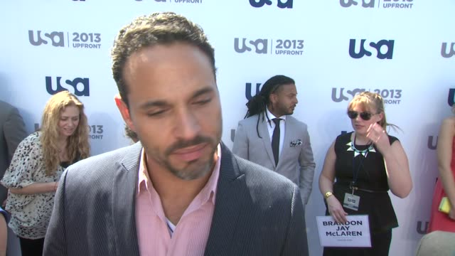 INTERVIEW Daniel Sunjata on his new show Graceland and working with USA at USA Network 2013 Upfront Event at Pier 36 on May 16 2013 in New York New...