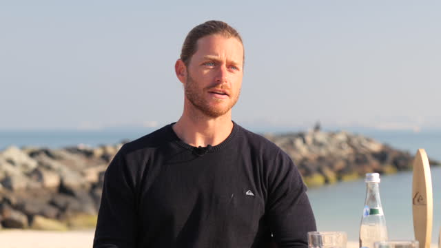 daniel van dooren, co founder and coo of surf house dubai, shares how he aided in keeping the sport of surfing legal in dubai. - law stock videos & royalty-free footage