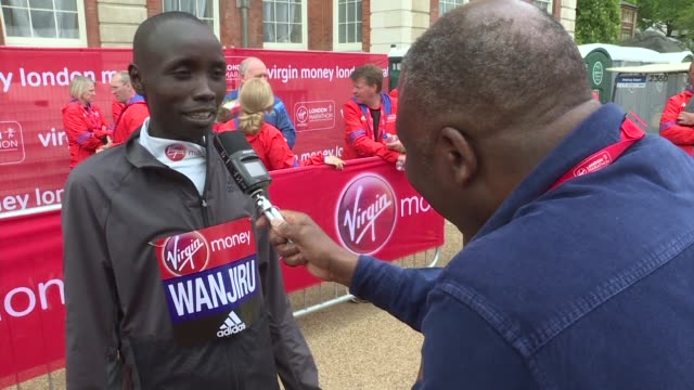 daniel wanjiru and recordbreaking mary keitany make it a memorable double for kenya with both storming to victory in the london marathon - record breaking stock videos & royalty-free footage