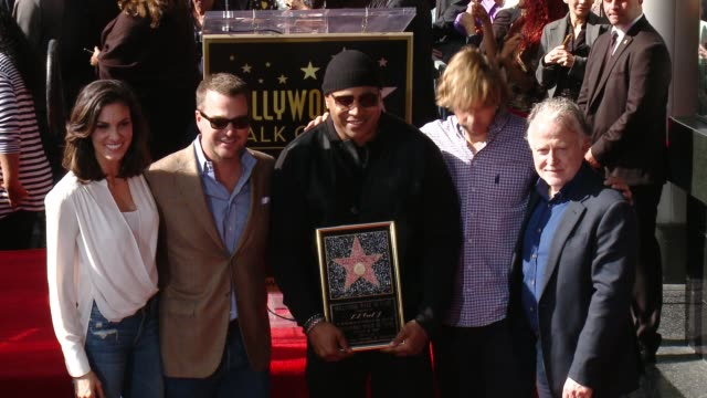 daniela ruah chris o'donnell ll cool j and eric christian olsen at the ll cool j honored with star on the hollywood walk of fame at hollywood walk of... - ll cool j stock videos and b-roll footage