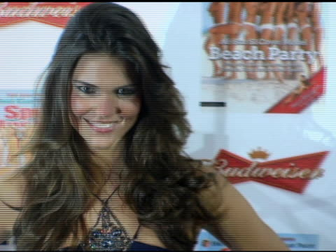 daniella sarahiba at the 2006 sports illustrated swimsuit issue photocall at crobar in new york new york on february 14 2006 - sports illustrated swimsuit issue stock videos & royalty-free footage