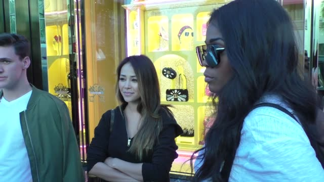 INTERVIEW Danielle Lombard Jasmine Goode talk about the new Bachelor Arie Luyendyk Jr while shopping in Beverly Hills in Celebrity Sightings in Los...
