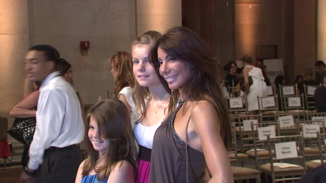 Danielle Staub and daughters at the Bravo's 'The Fashion Show' Finale at New York NY