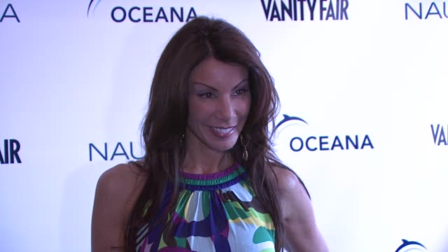 danielle staub at the oceana nautica vanity fair celebrate world oceans day at new york ny - oceana stock videos & royalty-free footage