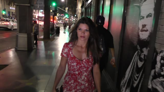 Danielle Vasinova taks about sexual abuse case on her ex Robert Herjavec about Caitlin Jenner at Katsuya Restaurant in Hollywood in Celebrity...