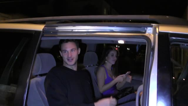 danilo gallinari & eleonora boi outside craig's restaurant in west hollywood in celebrity sightings in los angeles, - west hollywood stock-videos und b-roll-filmmaterial
